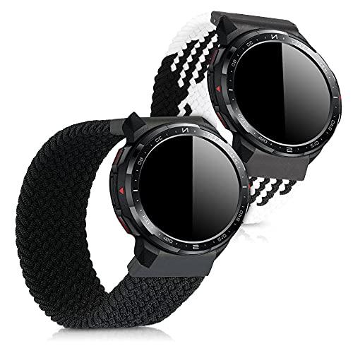 kwmobile Cinturino Compatibile con Honor Watch GS PRO - 2X Fascetta per Smart-Watch Fitness-Tracker - in Nylon con Fibbia ca.