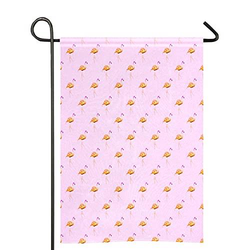 Bandiere rosa con fenicotteri 28 x 40 su entrambi i lati, bandiera del giardino, fattoria, casa di benvenuto, prato per decorare la casa, rustico, all'aperto
