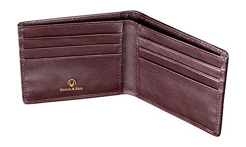 Cronus & Rhea Geldklammer aus exklusivem Leder (Ladon) | Kartenhalter - Kartenetui - Geldbeutel - Geldbörse | Echtleder | Mit eleganter Geschenkbox | Herren - Damen (Dunkelbraun)