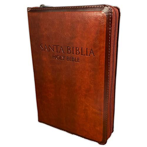 Compare Textbook Prices for Biblia Bilingue con Cierre Reina Valera 1960 con KJV tamano personal imitacion piel cafe con indice  ISBN 9781535904797 by Broadman and Holman