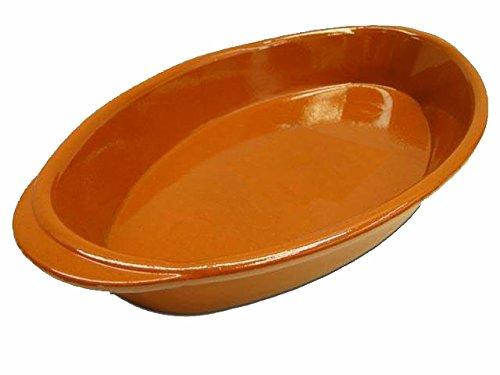 Alar molde 4126–Fuente ovalada cerámica forma 39x 24cm, terracota y colores, para saludable Deliciosos Cocina