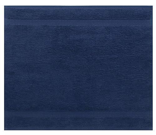 Betz Serviette débarbouillette Lavette Taille 30 x 30 cm 100% Coton Premium Couleur Bleu foncé