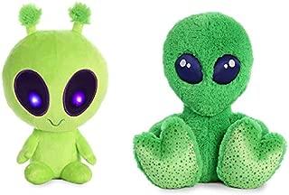 Aurora World Plush Bundle Set of 2 - Galactic Light Up Alien Stuffed Animals - 10