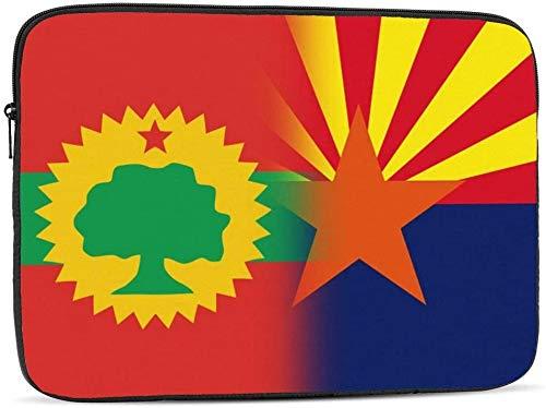 Banderas de la Liberación Front&Armenia - Funda para ordenador portátil de 10 a 17 pulgadas, compatible con la bandera de la Liberación Oromo Front&Arizona State Flag-12 pulgadas, 17 pulgadas