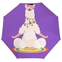 ヨガの炎 Purple 折りたたみ傘 梅雨対策 晴雨兼用 折り畳み傘 超撥水 軽量 強風対応 紫外線カット 日焼け止め メンズ レディース 持ち運びが簡単