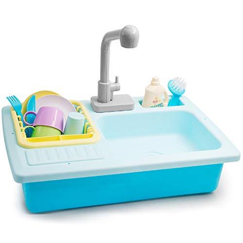 Rian City 2019 Simulation Fun Lave-Vaisselle, 1-5 Ans Vieux Jeux pour Enfants Maison Toy A 17 Accessoires avec Robinet Pacs électrique avec Safe ABS Inoffensif Matériel ne Peut Pas être Charged