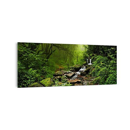 DekoGlas Küchenrückwand \'Dschungel Wasserfall\' in div. Größen, Glas-Rückwand, Wandpaneele, Spritzschutz & Fliesenspiegel