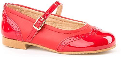 Zapatos Merceditas Charol+Napa para Niñas Todo Piel Angelitos mod.1526. Calzado Infantil Made in Spain, Garantia de Calidad.