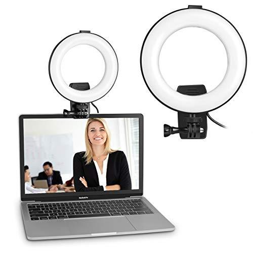 Video Konferenz-Beleuchtungsset, CHANONE 6 Zoll Ring Licht Clip-On, für Fernarbeit, Fernunterricht, Zoom-Anrufbeleuchtung, Selbstübertragung und Live-Streaming, Computer- und Laptop- Videokonferenzen