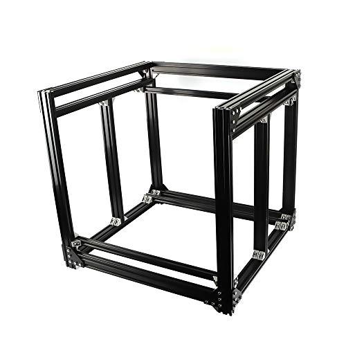 LUOERPI Tamaño Personalizado! Kit de Marco de Cubo de extrusión de Perfil de Aluminio 2040 de Tipo Europeo BLV MGN (Color : Black)