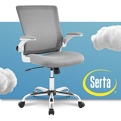 Serta Creativity Ergonomic Mesh Office Computer Desk Chair, Adjustable Armrest with Mid-Back Lumbar Support, Gray