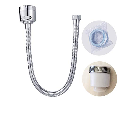 Spritzwassergeschützter Wasserhahn, 34 cm lang/verlängerte Verlängerung, universell, aus Edelstahl, spritzwassergeschützt