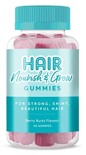 Vitawell Hair Nourish & Grow | 60 Mixed Berry Flavour Gummies | Multivitamin with Biotin, Zinc and Vitamin C, E & A