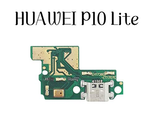 MOLIBAIHUO Compatible con Huawei P8 P9 P10 Lite Plus P8 Lite 2017 Cargador Puerto de Carga Dock Conector USB Datos Flex Cable Auriculares Jack Flex Ribbon Flex Cable (Color : For P10 Lite)