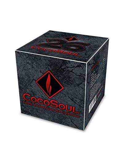 COCOSOUL Carbón natural de coco Premium para Cachimba Shisha y BBQ con largo tiempo de combustión