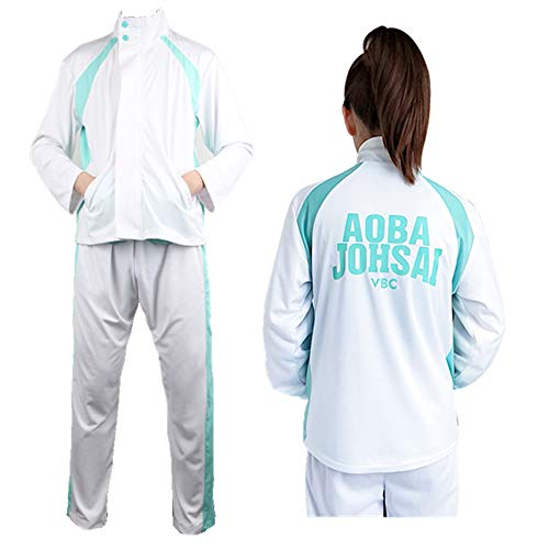 Cartoon Jersey Aoba Johsai High School Volleyball Team Sportswear Cosplay Costume Oikawa Tooru Jacket Pants School Uniform
