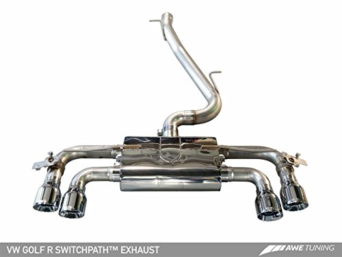 AWE Tuning 3025-43024 Mk7 Golf R SwitchPath Exhaust (with Diamond Black Tips, 102mm)