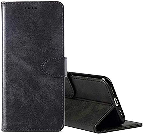 cookaR TP-Link Neffos X20 Handy Hülle Tasche Flip Hülle Kredit Karten Fach Geldklammer Leder Handy Schutzhülle Unsichtbar Magnet Verschluss Standfunktion,Schwarz
