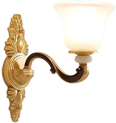 Volume Europese wandlamp van kristalglas in retro stijl E27 zinklegering Jade Luxe sfeer woonkamer gang bed verlichting wandlamp (afmetingen: 42 cm x 17 cm x 36 cm)
