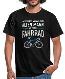 Spreadshirt Unterschätze Niemals Einen Alten Mann Mit Fahrrad Männer T-Shirt, L, Schwarz