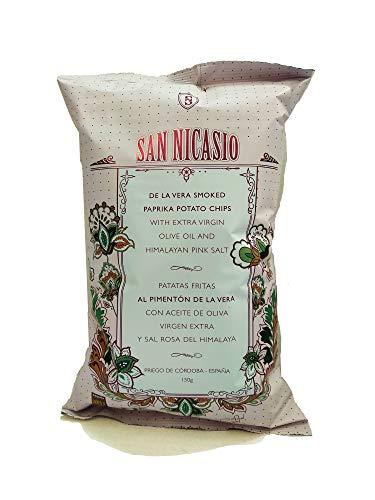 San Nicasio Patatas Fritas al Pimenton de la Vera DOP - 14 Bolsas de 150gr