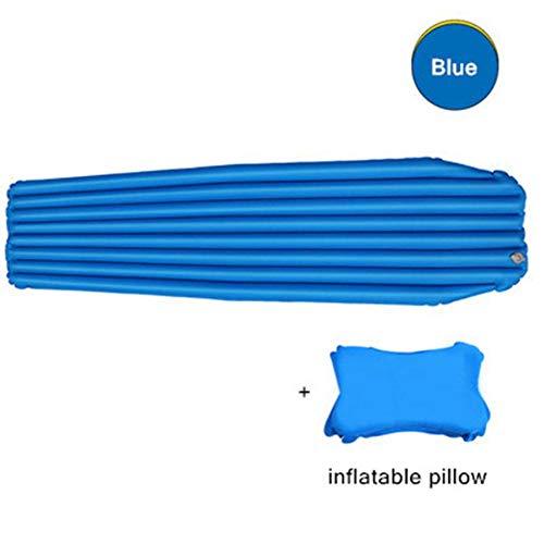 SHENBEIK Isomatte Camping Luftmatratze Ultraleicht Feuchtigkeits Schlafsack Aufblasbare Isomatte wasserdichte Outdoor Wandern Camping Zelt Bett,blau, 180 cm x 51 cm x 6 cmblau