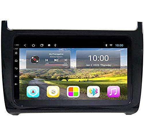 Navegación GPS, Pantalla táctil Android 9.0 HD para Volkswagen POLO Sedan 2011-2018, Reproductor de radio estéreo para automóvil Bluetooth FM Unidad principal Bluetooth DSP incorporada, WIFI 2G + 32G