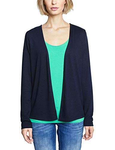 Street One Damen Nette Strickjacke, Blau (Deep Blue), 42