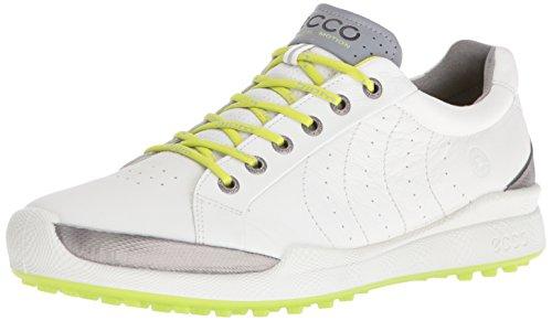 ECCO Men's Golf BIOM Hybrid, Chaussures Homme, Blanc 55365white Lime Punch, 41 EU
