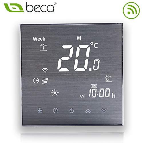 BECA 2000 Serie 3A LCD Touchscreen Kesselheizung Intelligente Programmiersteuerung Thermostat mit WIFI-Verbindung (Kesselheizung, Gebürstete SS(WIFI))