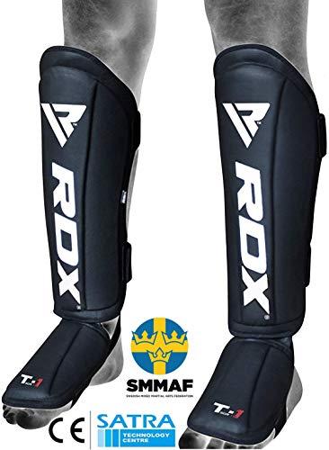 RDX Paratibia per Muay Thai Allenamento | Approvato da SMMAF | Maya Hide Pelle Parastinchi piedi per Kick Boxing e MMA Training | Grande per Boxe, Sparring, Arti Marziali, Karatè, BJJ