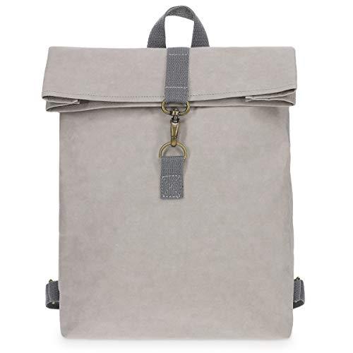 Navaris Rucksack Tasche aus waschbarem Kraftpapier - 10l Papierrucksack für Herren und Damen - Papier Backpack - FSC Zertifiziert umweltfreundlich