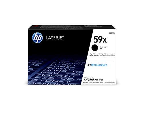 HP 59X CF259X - Cartucho Tóner de Alta Capacidad, de 10.000 Páginas, para Impresoras HP Laserjet PRO M404N, M404DN, M404DW, MFP M428DW, MFP M428FDN, MFP M428FDW y M304A, Negro