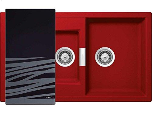 Schock Mono D-150 A Rouge Granitspüle Rot Granit Einbauspüle Küche