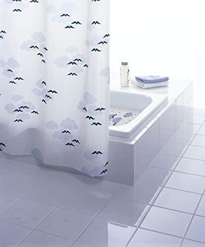GRUND Duschvorhang NUBE 180x200 cm weiss-blau