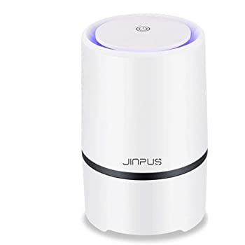 JINPUS Air Purifier Small Air Cleaner for Home with HEPA Filter, 2020 Upgraded Low Noise Portable Air Purifiers GL-2103 (White)