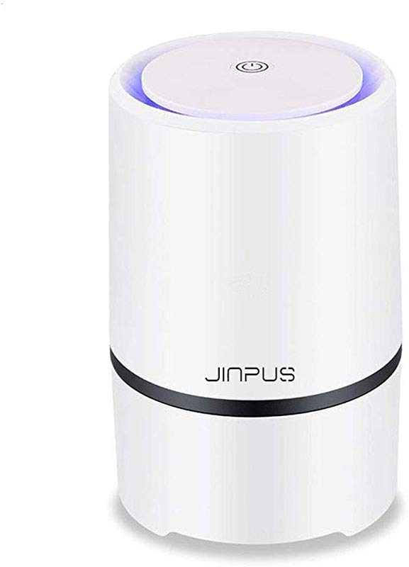 JINPUS Air Purifier Air Cleaner For Home With True HEPA Filter 2019 Upgraded Design Low Noise Portable Air Purifiers With 5V 1 5M USB Cable