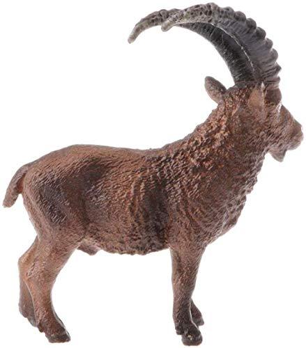 Cakunmik Juguete de Cabra Modelo de Animal Salvaje de simulación, Adornos de Escultura de Animal Artificial, Modelo de Cabra de simulación de Granja/Salvaje Aprendizaje Educativo para niños