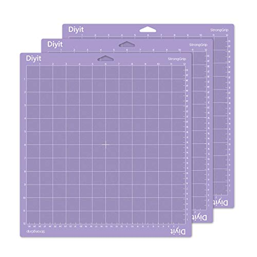 Diyit 12x12 Cutting Mat for Cricut Maker/Explore Air 2/Air/One, 3 Pieces Purple Strong Grip Mat for Crafts