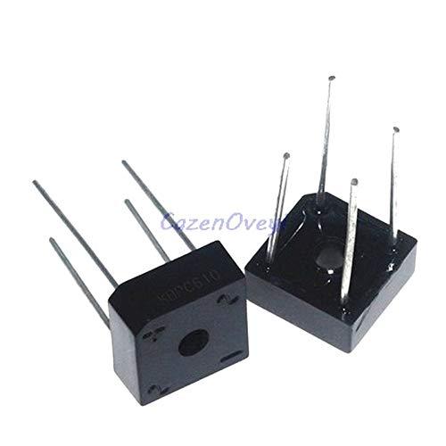10pcs/lot KBPC608 KBPC-608 6A 800V Single Phases Diode 4pin Bridge Rectifier IC