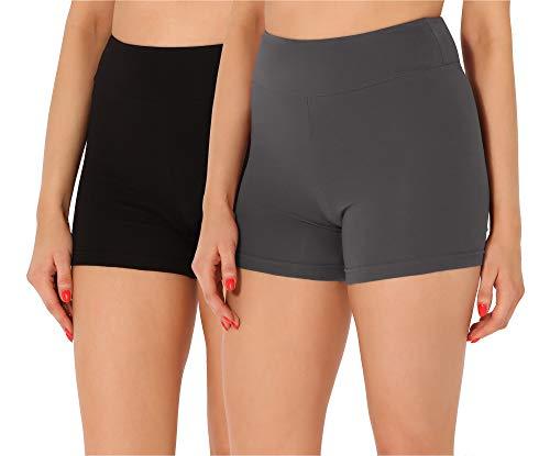 Merry Style Dames Shorts Fietsbroek Onderbroek Hotpants van Katoen 2Pack MS10-359