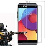 FoneExpert® 2 Pack - LG Q8 Verre Trempé, Vitre Protection Film de Protecteur d'écran Glass Film...
