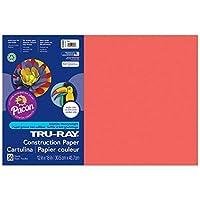 Tru-Ray PAC103062BN Construction Paper Red 12 x 18 50 Sheets per Pack 5 Packs [並行輸入品]