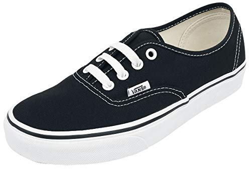Vans Unisex Authentic(tm) Core Classics Black Sneaker Men's 7, Women's 8.5 Medium
