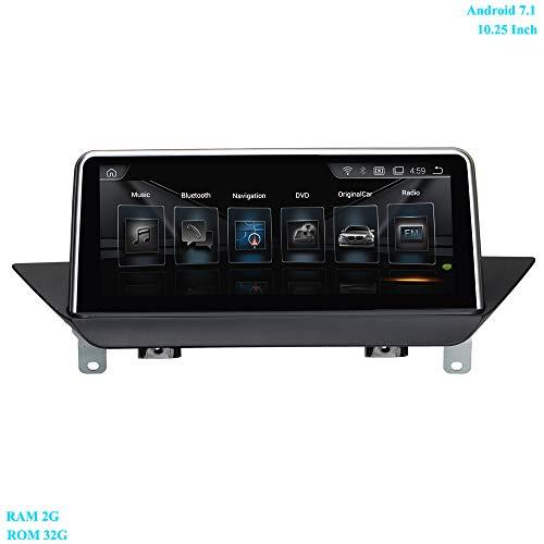 XISEDO Android 7.1 Autoradio 10.25 Pouces Écran 4-Core RAM 2GB ROM 32GB Car Radio Système de Navigation GPS pour BMW X1 E84 (2009-2015) avec écran Orginal/Système CIC d'origine