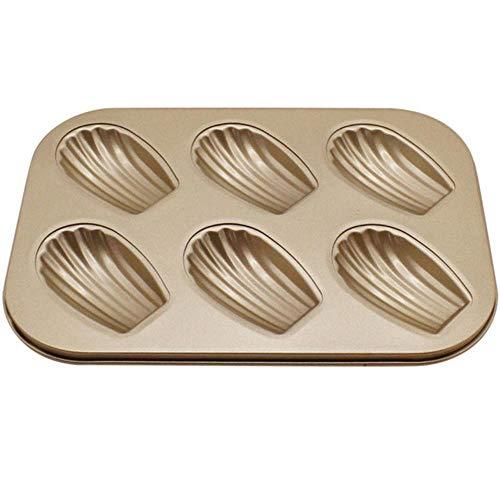 6 Löcher Kuchenform Edelstahl Nicht klebrig Verschiedene Formen Kuchenpudding Keks Backformen Backform Cupcake Formen, Schale