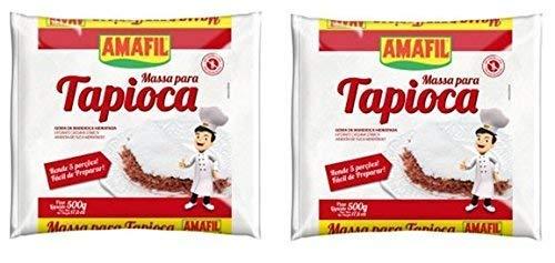 Amafil Tapioca Flour 500g (17.6oz) Massa Para Tapioca (2 Pack)-SET OF 2