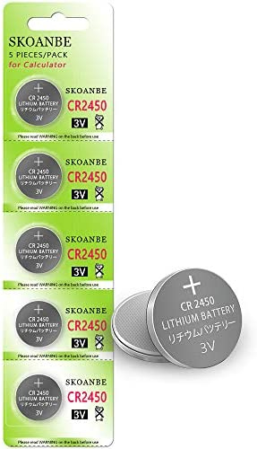 SKOANBE 5Pack CR2450 Lithium 3V Button Coin Cell 2450 Battery product image
