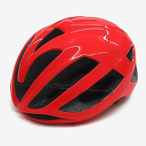 Rode Fietshelm Dames Heren Fietshelm MTB Bike Mountain Road Fietsen Veiligheid Buitensporten Grote Helm, E, M 52-58cm
