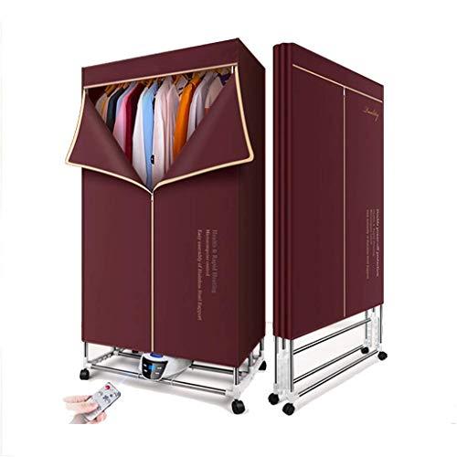 1600W Portatile asciugatrice elettrica, Pieghevole, Facile da riporre, Grande capacità di 562L, con Telecomando, Asciugare Coperta Rack Abbigliamento Heater